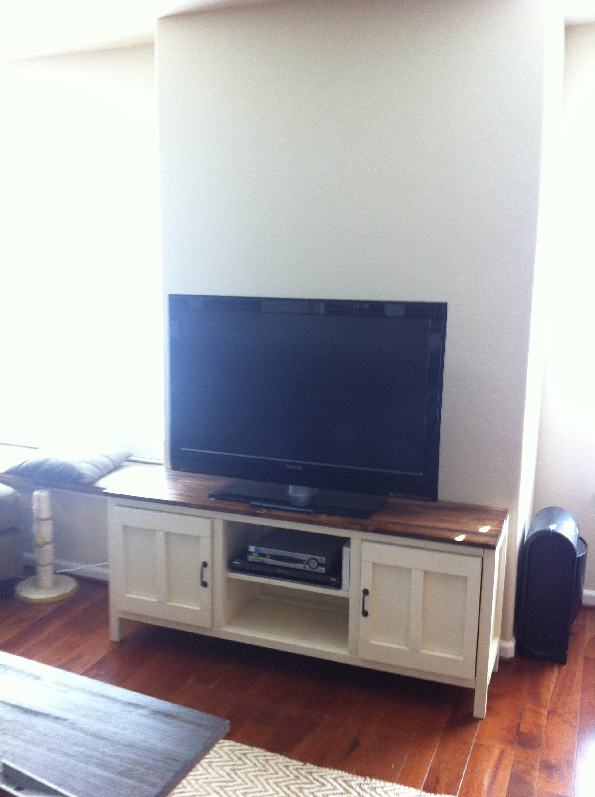 Ana white media console diy projects White media console