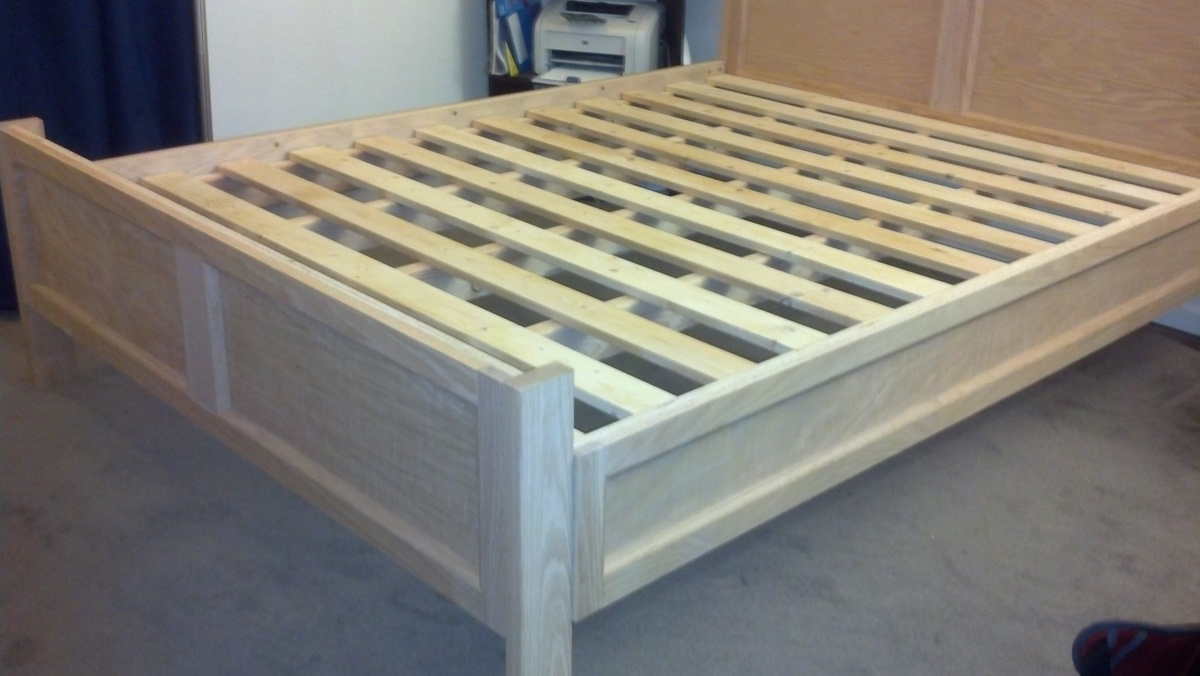modified farmhousepottery barn bed frame