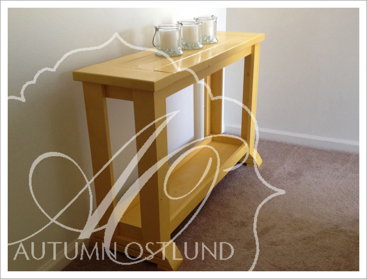 Ana White Little Yellow Console Table Diy Projects