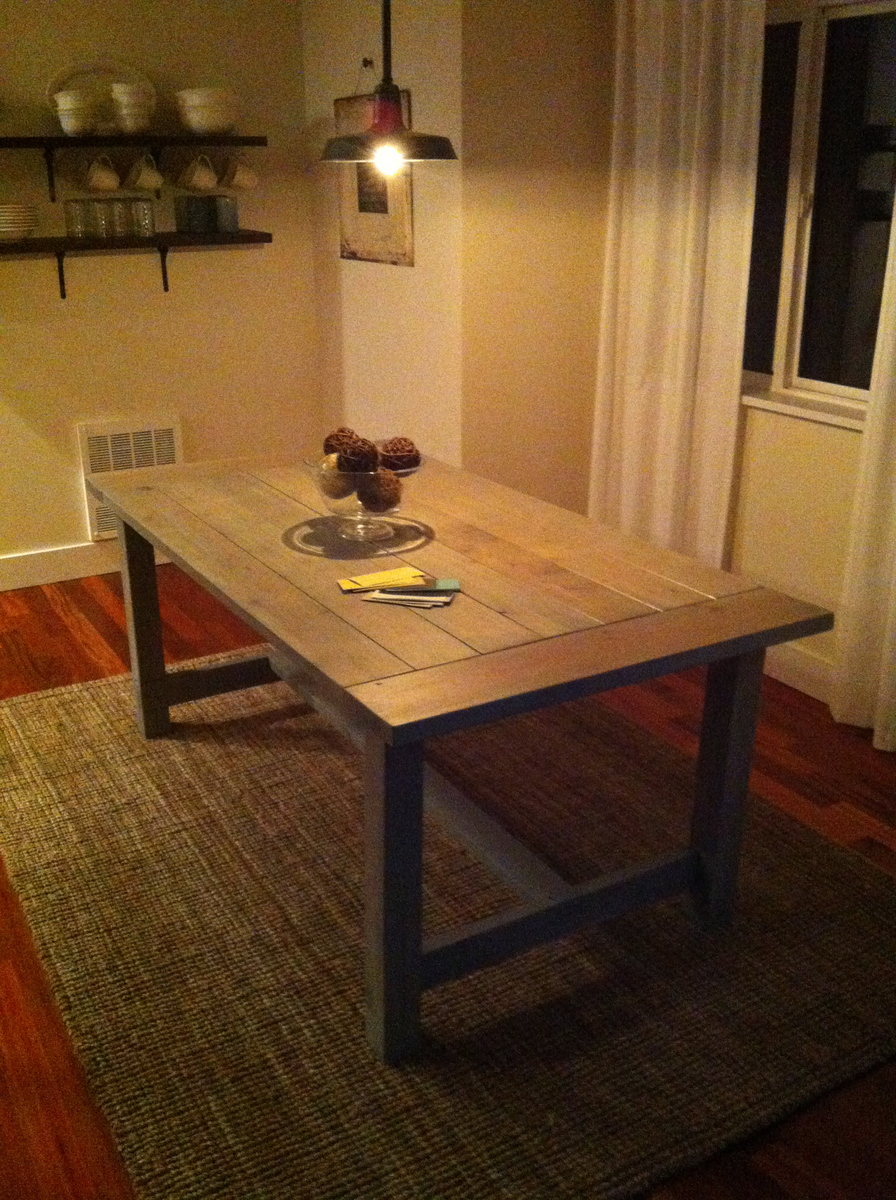 Ana white farmhouse table diy projects farmhouse table dzzzfo