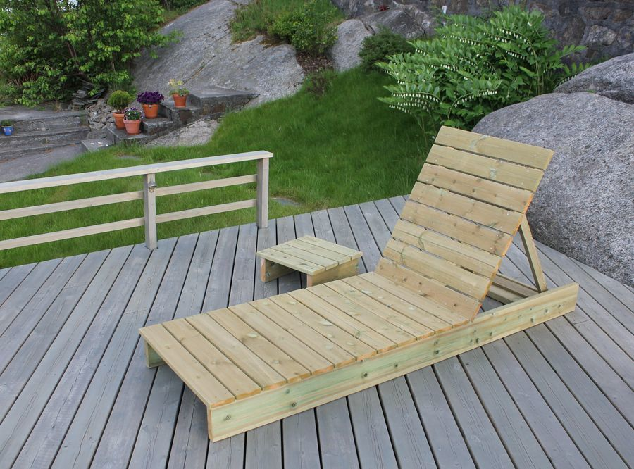 Ana White Garden Lounger And Side Table Diy Projects
