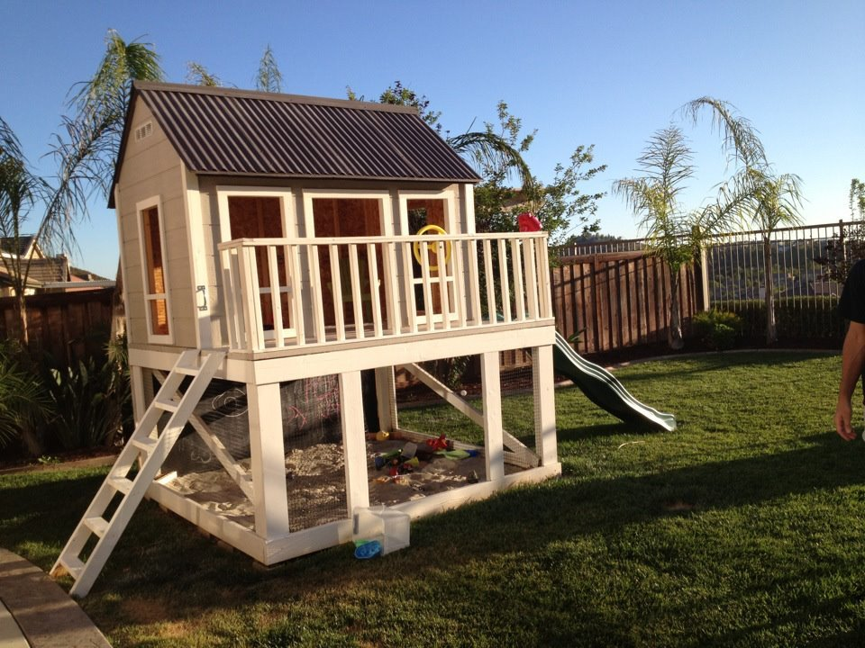 Pdf Diy Do It Yourself Playhouse Plans Download Double