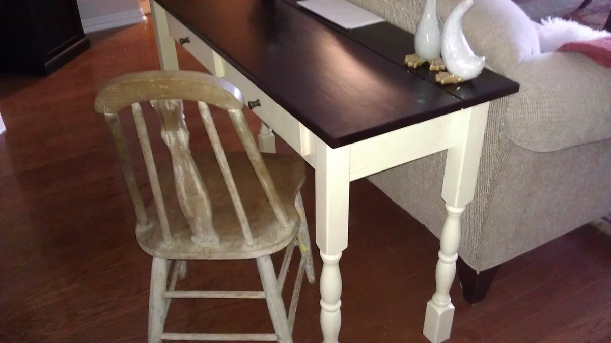 Ana white my finished flip top console table diy projects additional photos geotapseo Image collections