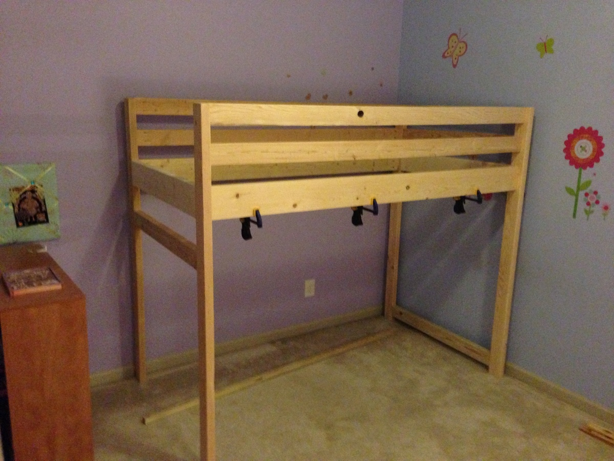 Loft bed plans ana white free download pdf woodworking ana for Castle bed plans pdf