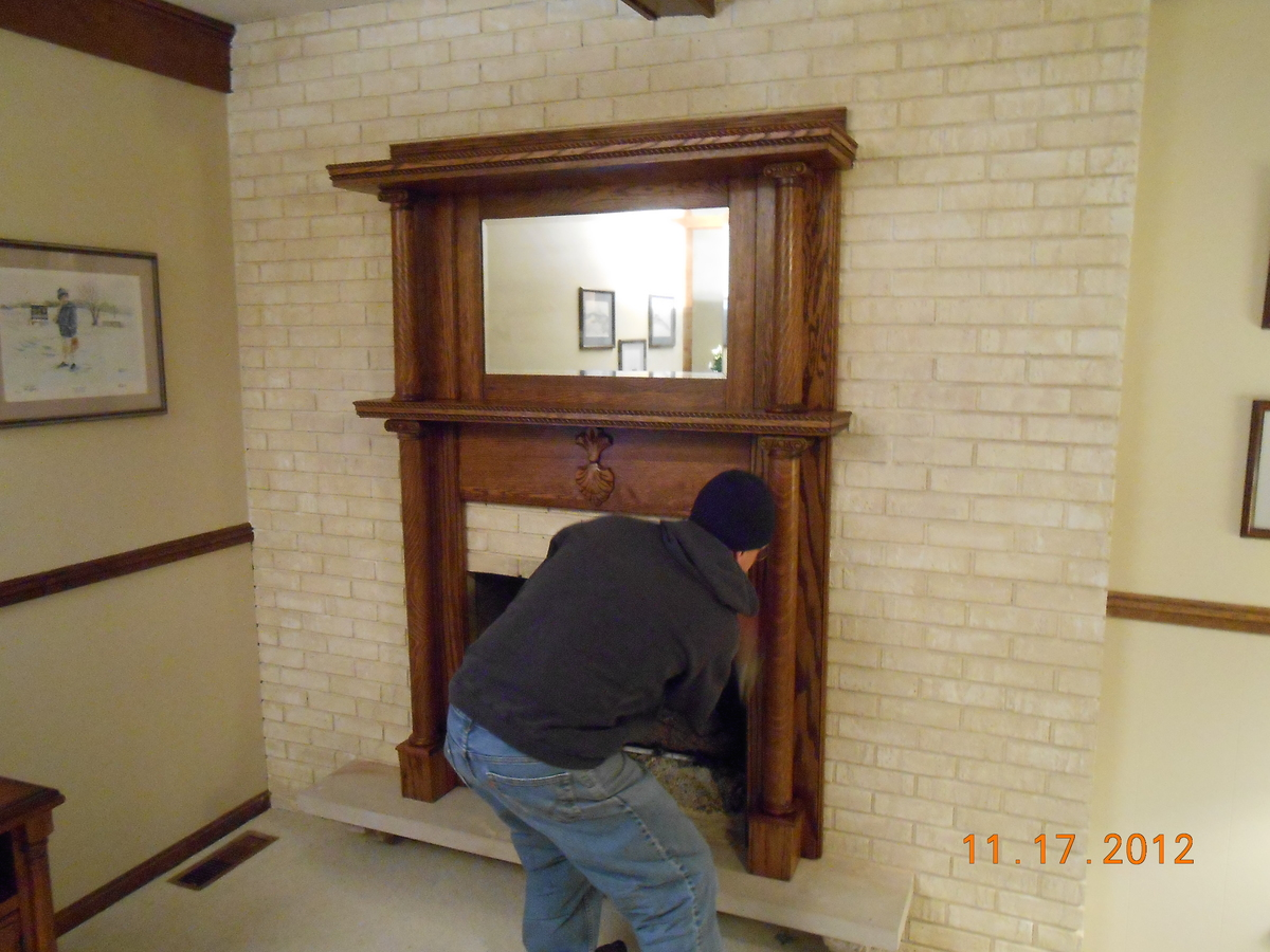 ana white refinished red oak fireplace mantel diy projects