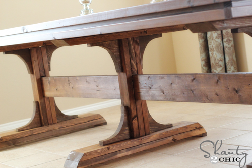 Nice Free easy DIY plans to build a triple pedestal farmhouse table for Plans from Ana white