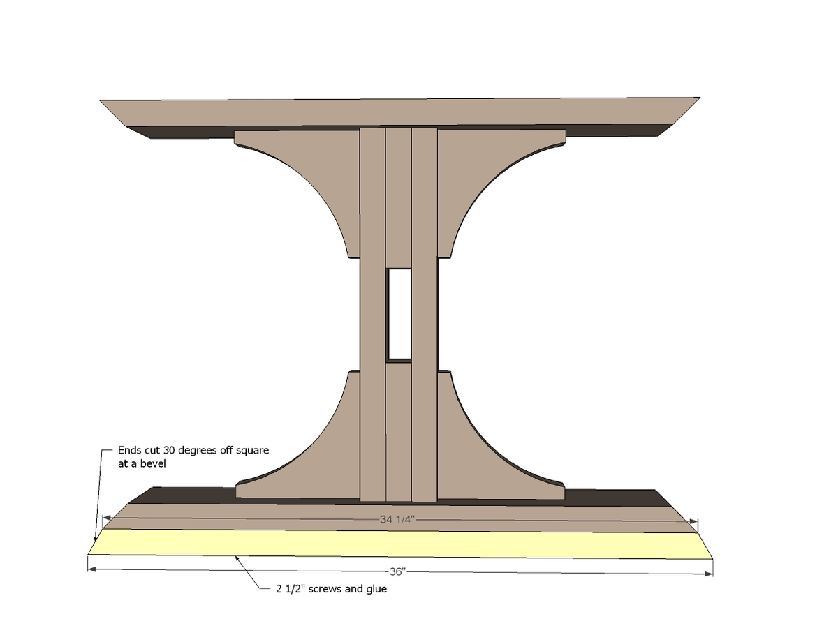 farmhouse table diy ana triple white pedestal legs plans projects
