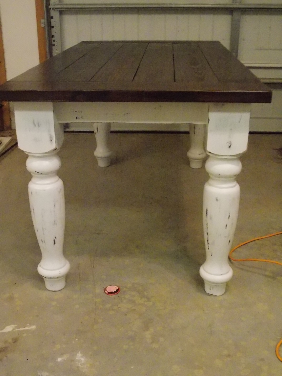 Ana White Turned Leg Farmhouse Table Diy Projects