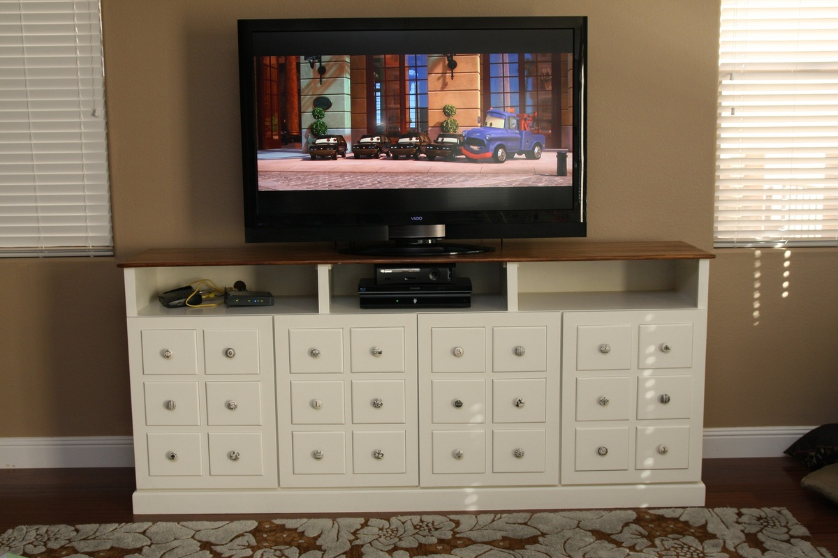 Design White Media Console ana white apothecary media console diy projects console