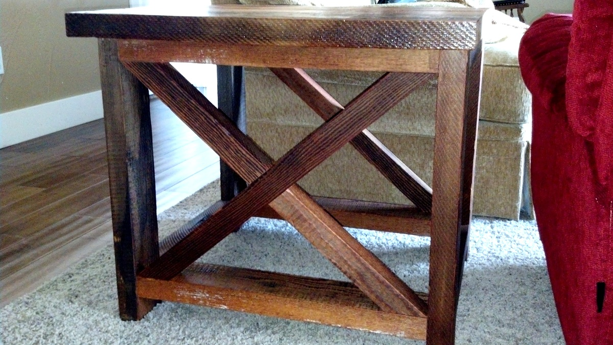100 ana white rustic x end awesome x frame console table wi