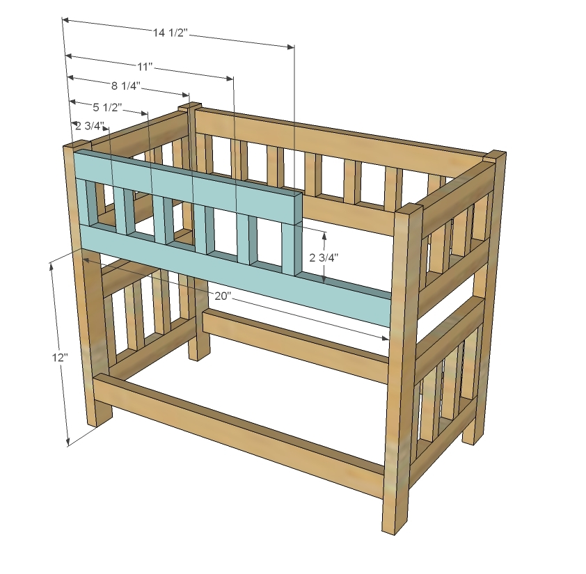 Unique Ana White Camp Style Bunk Beds for American Girl or Dolls DIY Projects