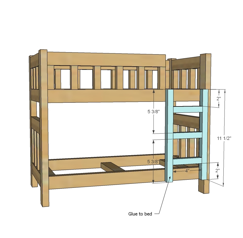 Fancy Ana White Camp Style Bunk Beds for American Girl or Dolls DIY Projects