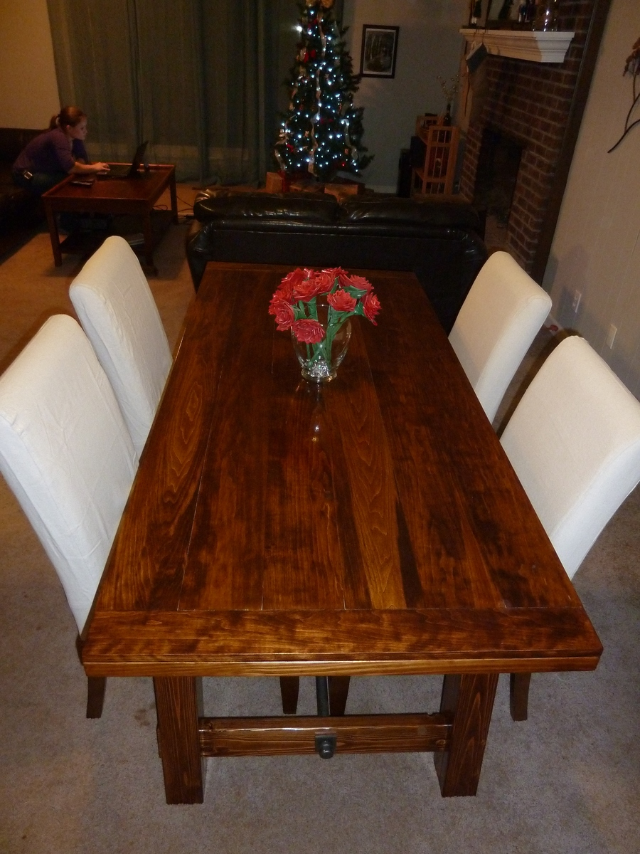 Ana White Benchright Farmhouse Dining Table Diy Projects