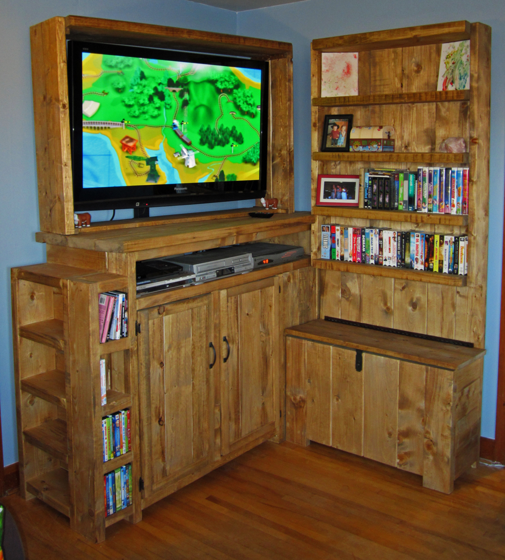 Ana White | Toy Storage Entertainment Center - DIY Projects