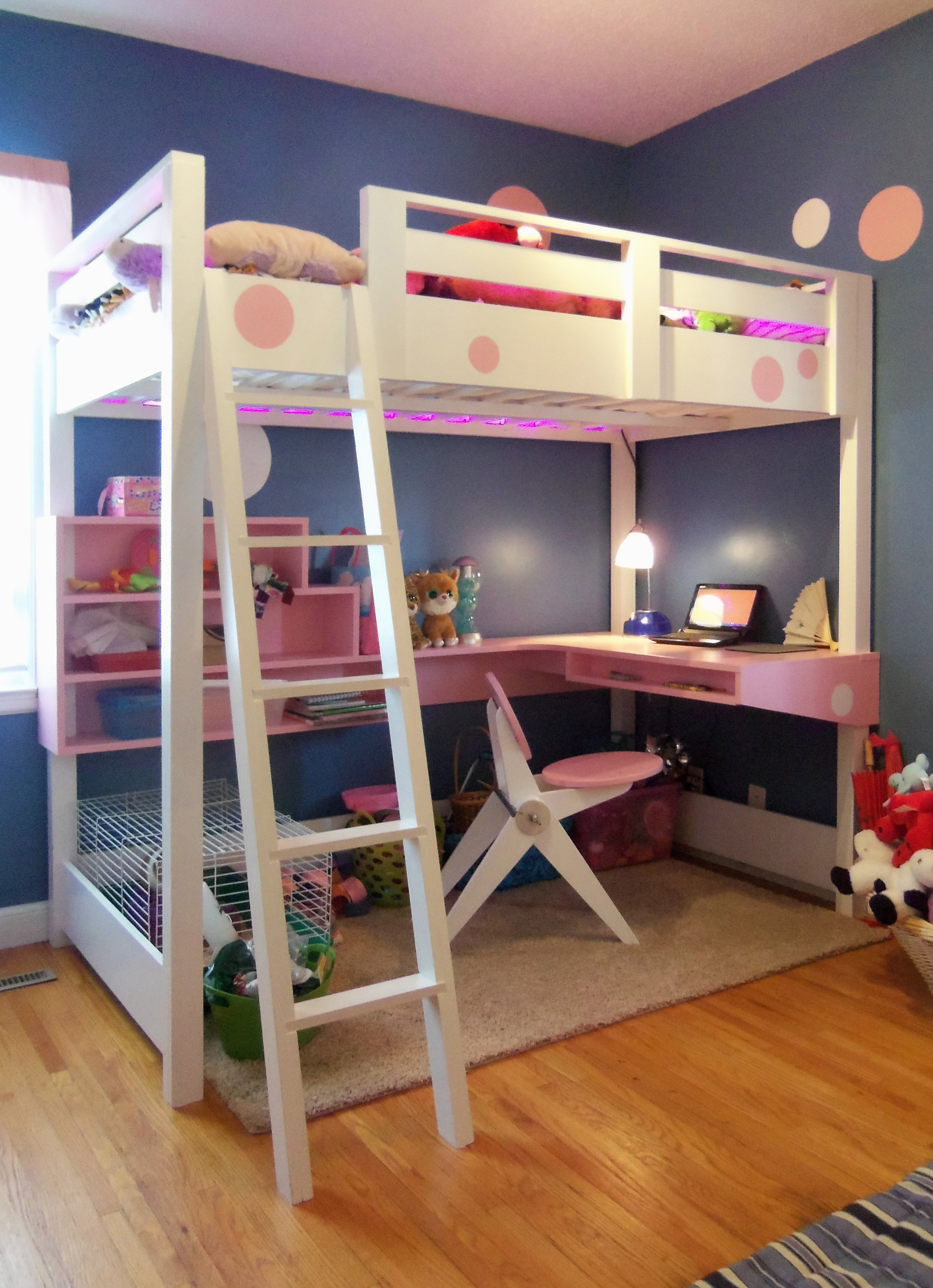 Swell Loft Bed With Desk Ana White Home Interior And Landscaping Ologienasavecom