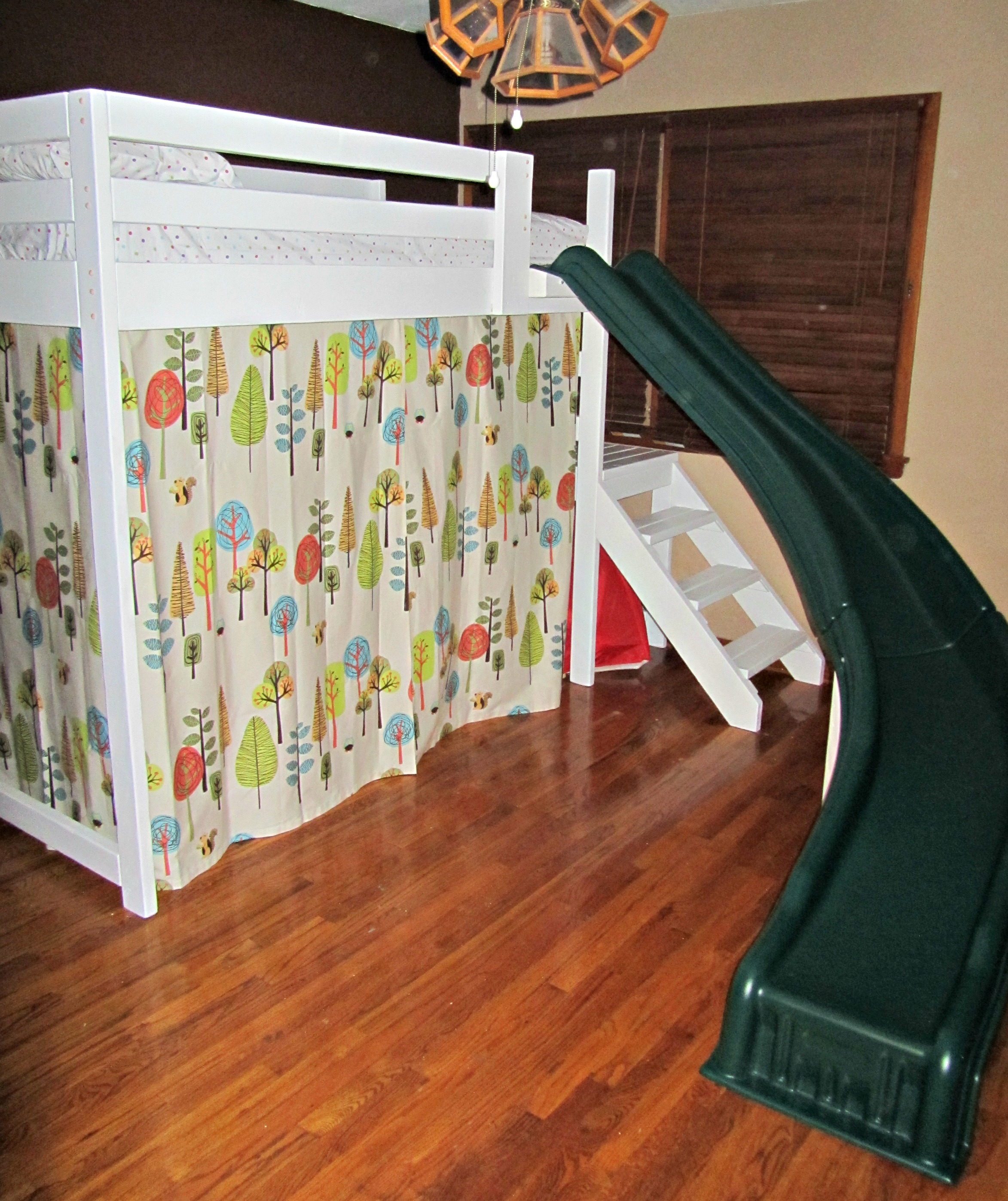 Camp Loft Bed With Stairs Slide And Fort Ana White
