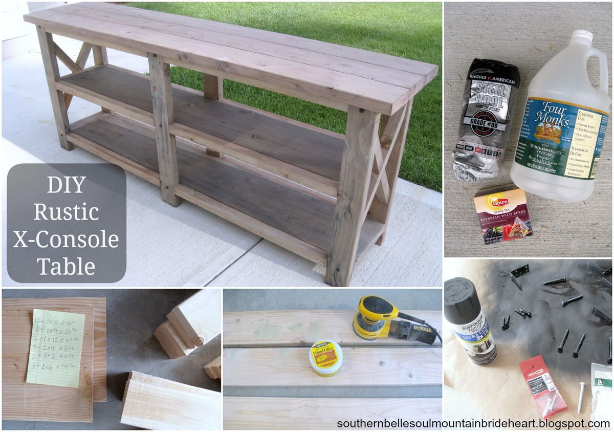 diy sofa table ana white. DIY RUSTIC X-CONSOLE TABLE Diy Sofa Table Ana White