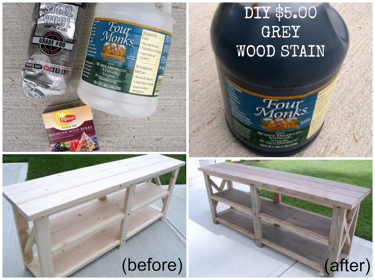 Ana white diy rustic x console table diy projects diy rustic x console table geotapseo Choice Image