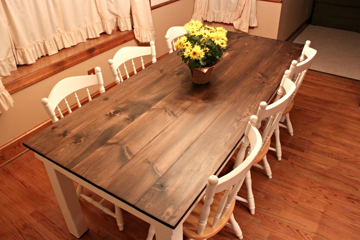 Large Farmhouse Kitchen Table Farm Kitchen Tables Diy Farmhouse Kitchen Table On Farmhouse