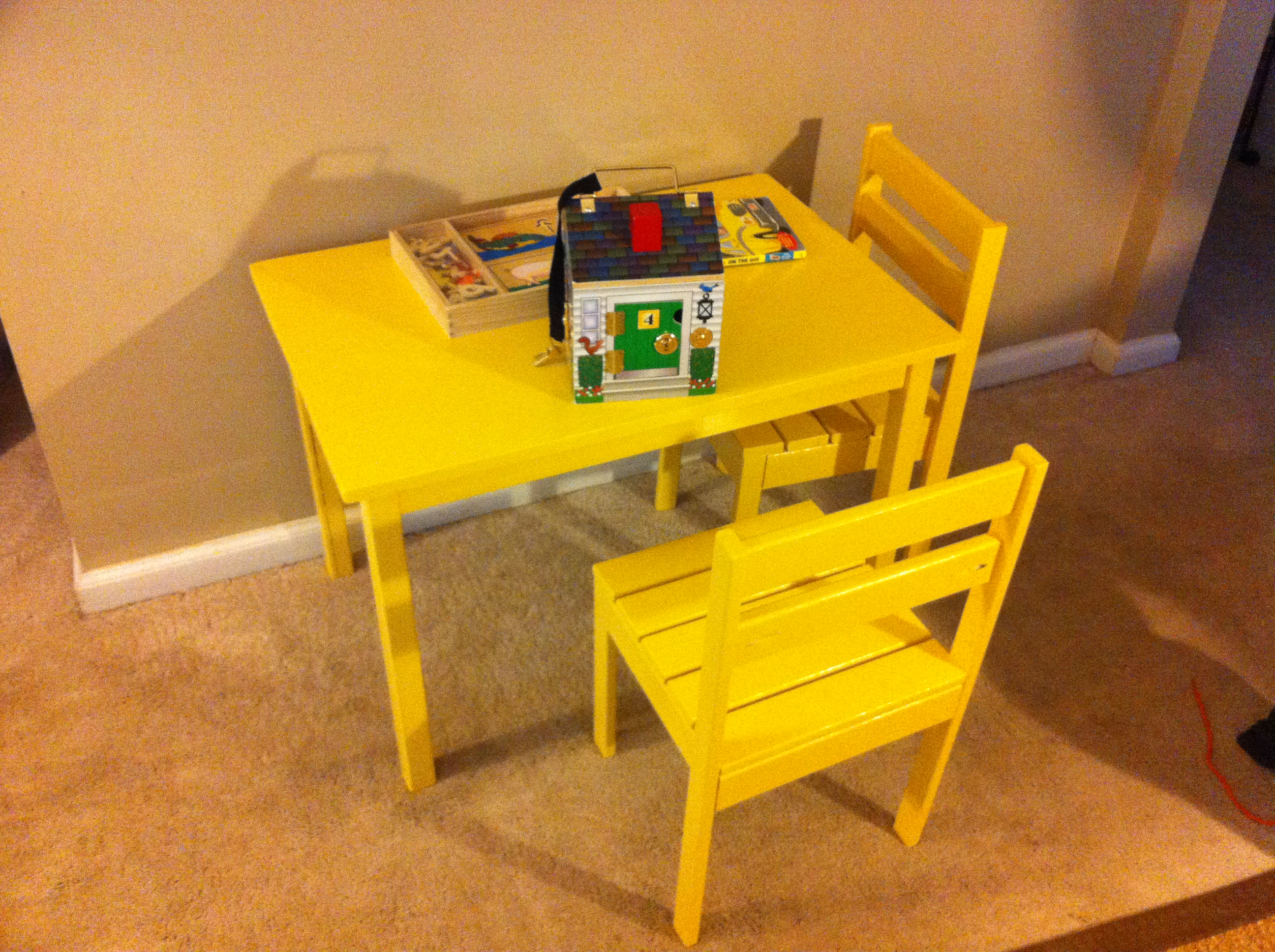 Clara Table And Four Dollar Stackable Chairs