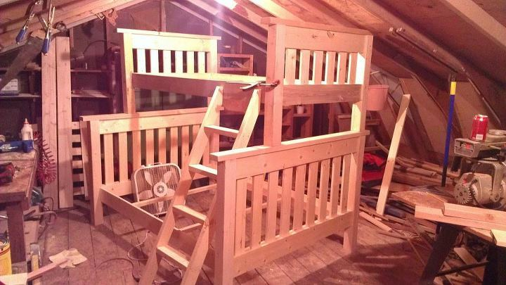 Ana White Twin Over Full Simple Bunk Bed Diy Projects
