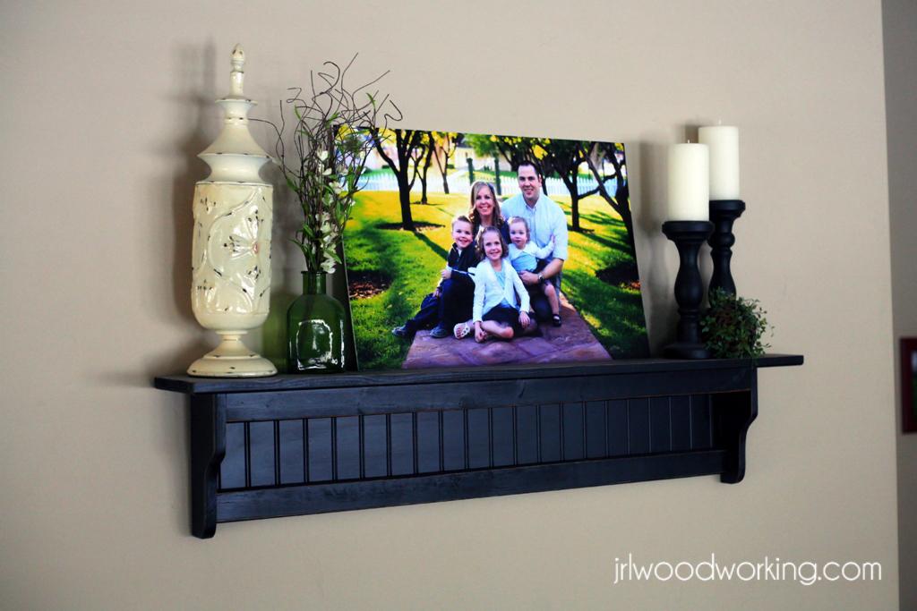 ana white | 4-foot beadboard wall shelf - diy projects 4 Ft Wall Shelf