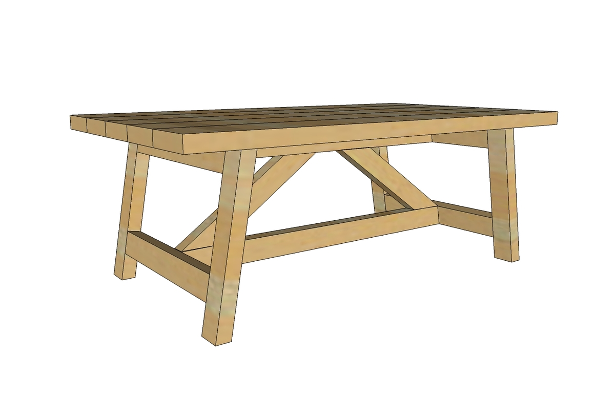 Ana white truss coffee table diy projects Homemade coffee table plans