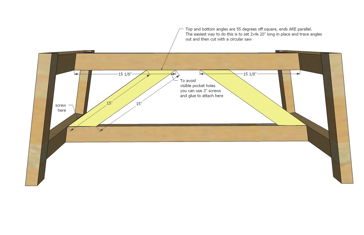 ana white | truss coffee table - diy projects