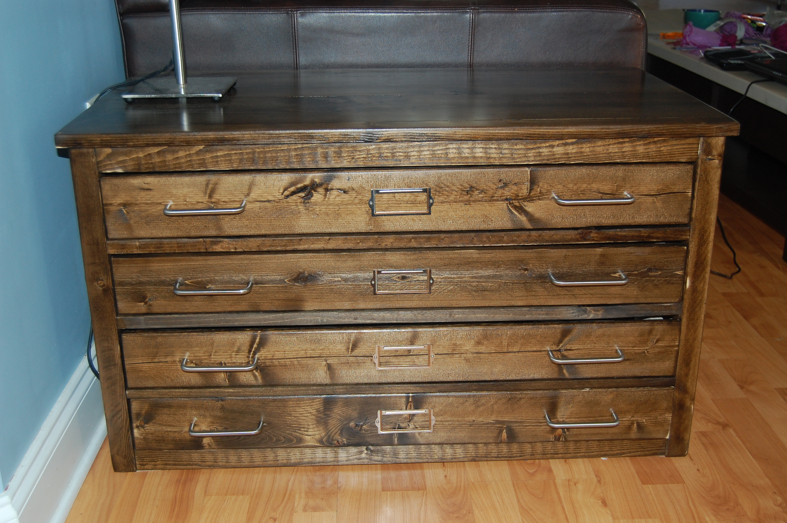 of drawer drawers lot case max auction oak map