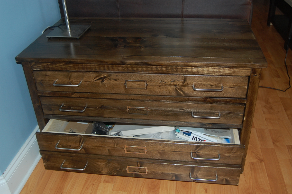 map antique chairish drawers cabinet storage flat drawer product