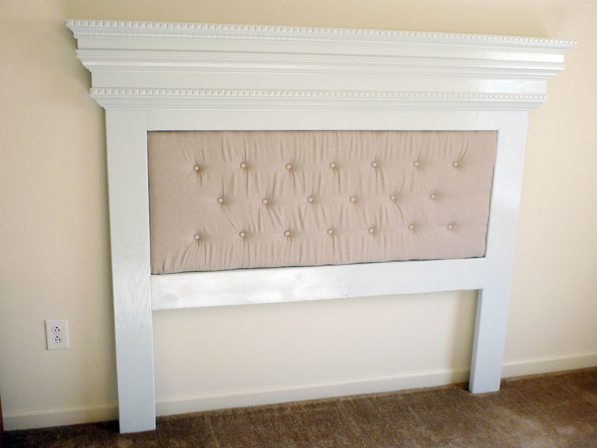 ana white our mantel moulding headboard with a unique twist