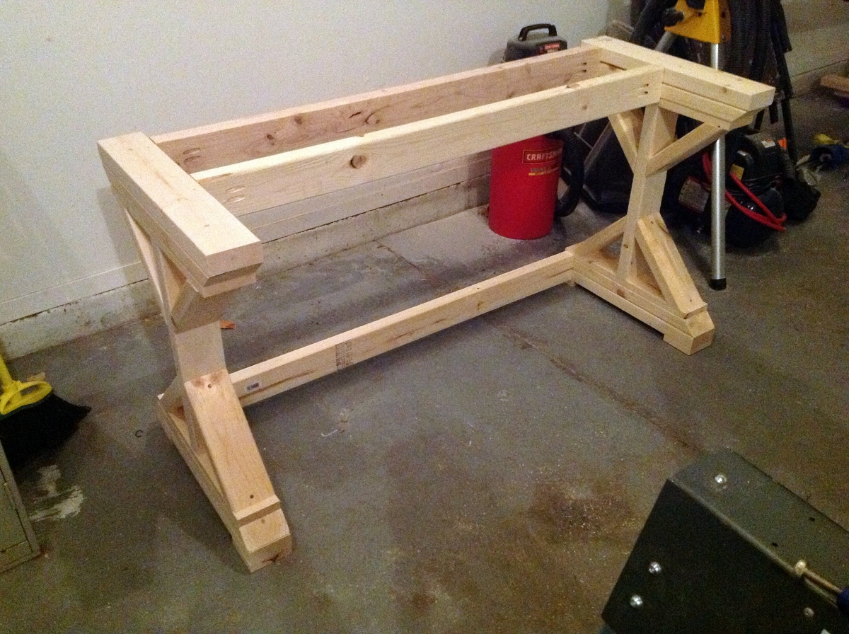 My First Build -- the $55 Fancy X Desk