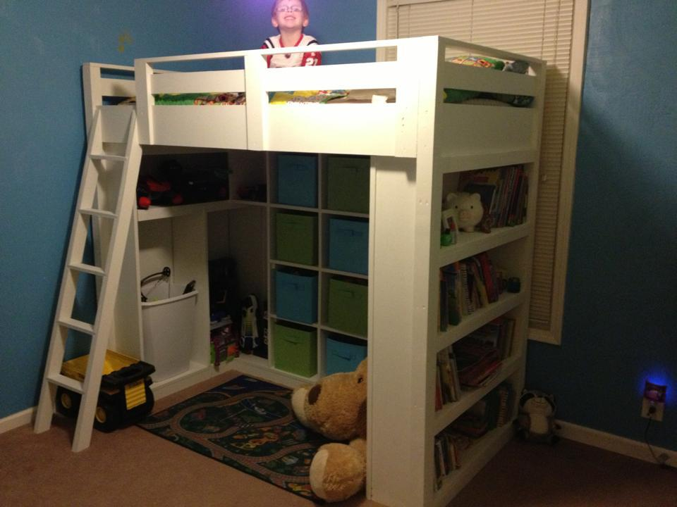 Ana white loft bed diy projects for How to make a loft room