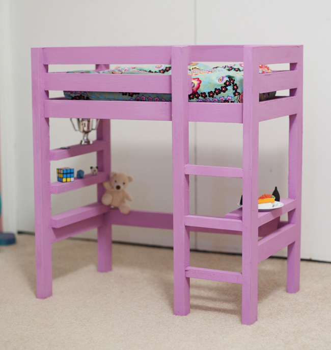 Ana White Doll Bunk Bed Plan With A Bit Of The Loft Bed Plan Diy