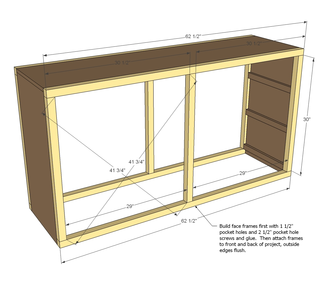 How to build make your own dresser pdf plans for Making simple drawers