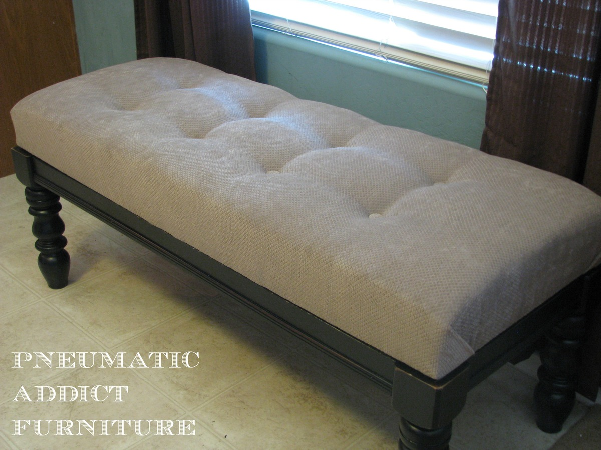ana white  tufted upholstered benches  diy projects - tufted upholstered benches