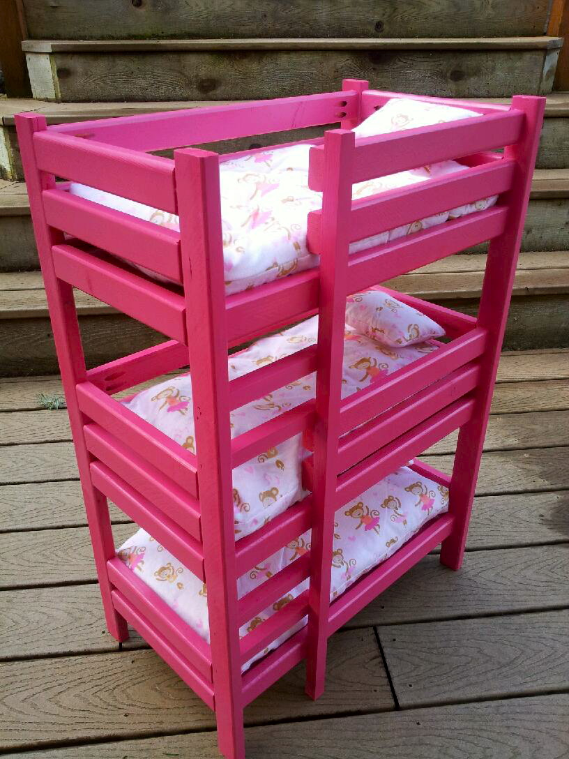 Triple Doll Bunk Bed