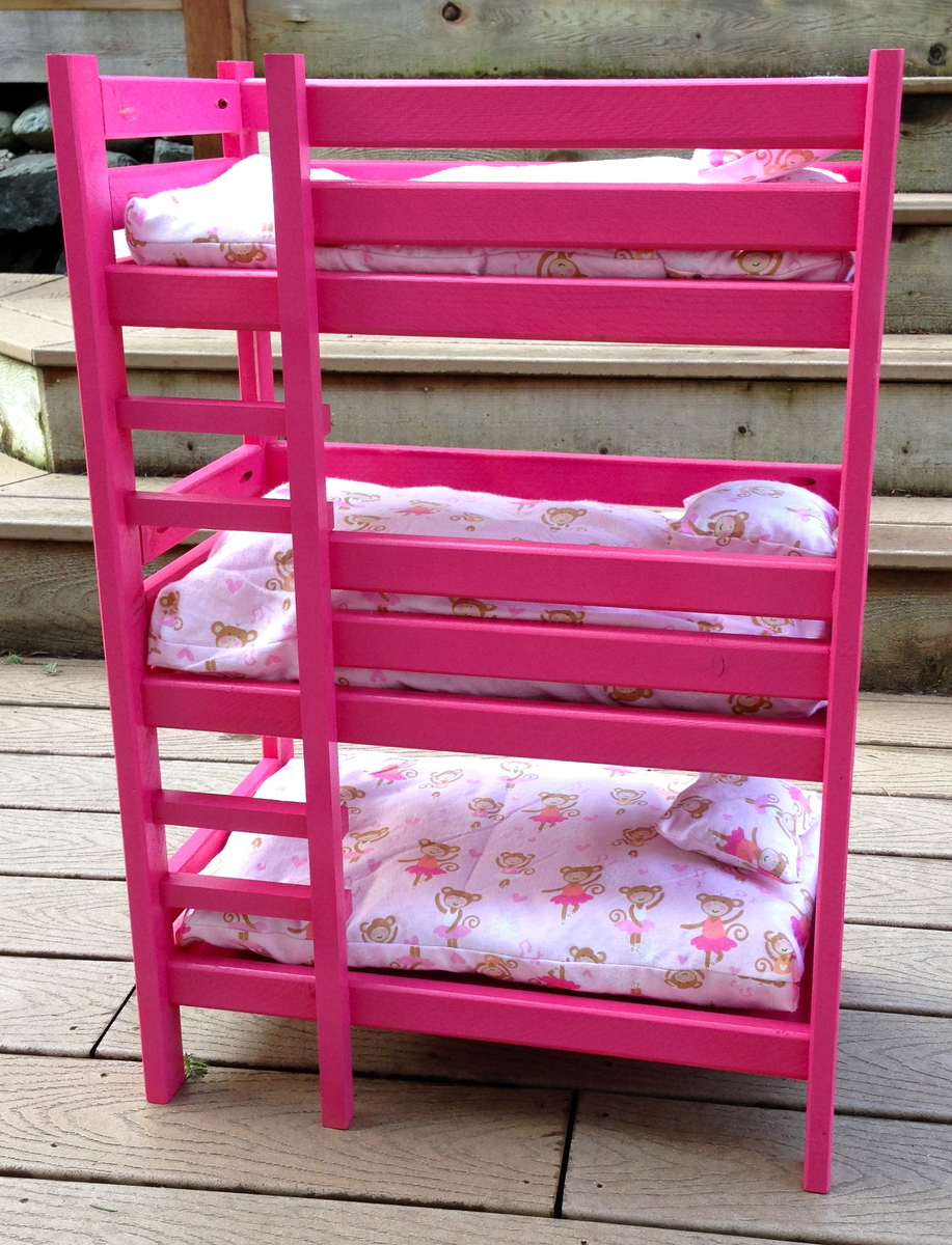 Wood Work Doll Triple Bunk Bed Plans Pdf Plans