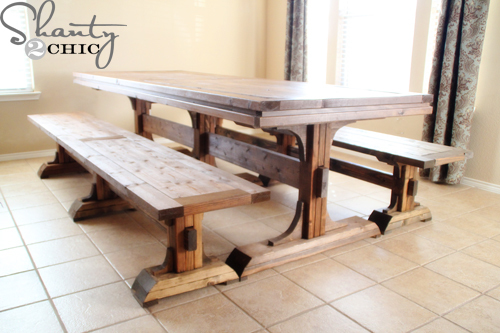 PDF DIY Farmhouse Dining Table Bench Plans Download Finger