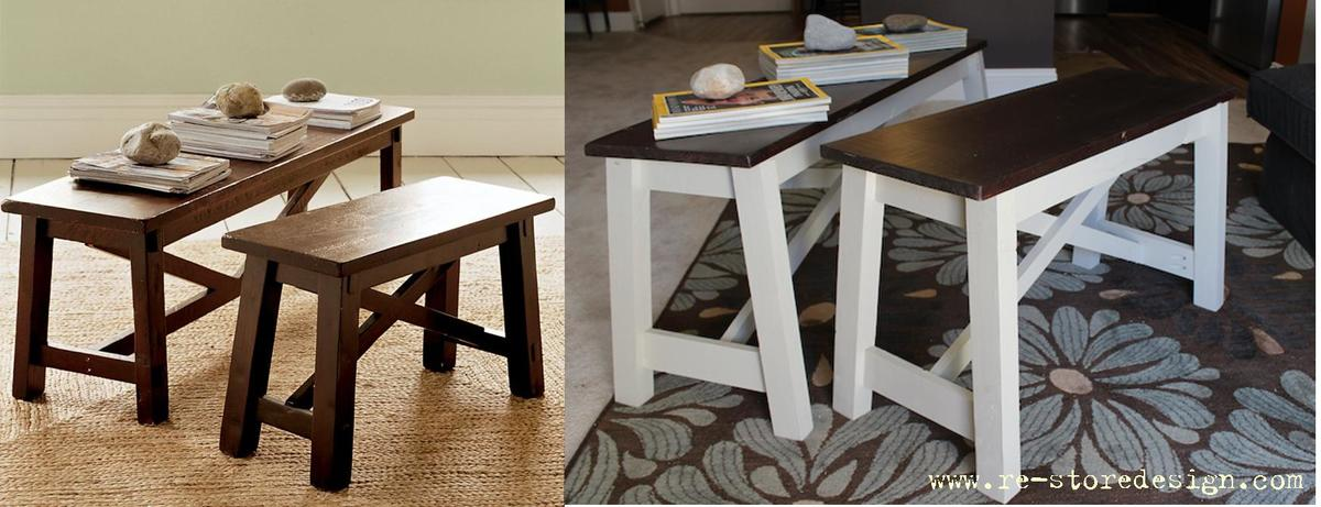 Ana White Pottery Barn Rustic Bench Hack Diy Projects