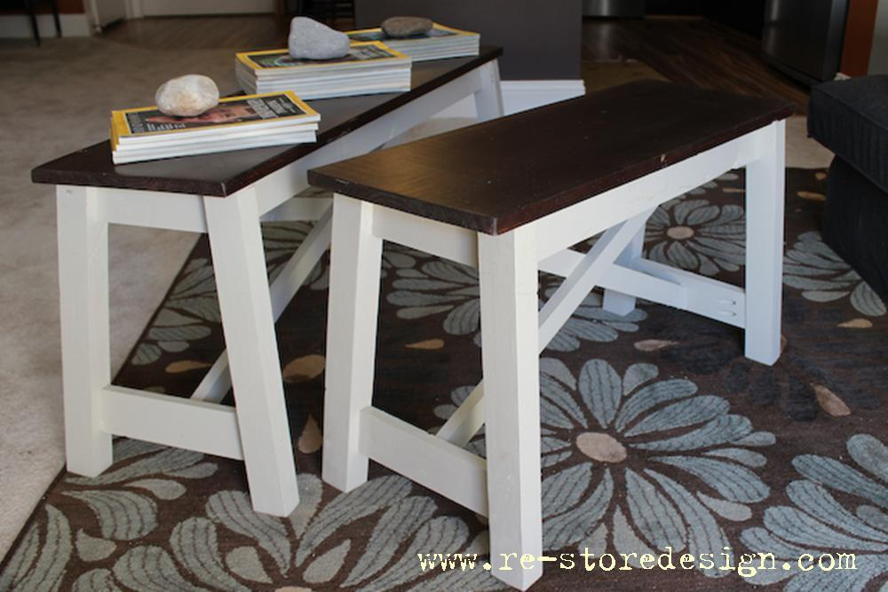 Pottery Barn Rustic Bench Hack Ana White