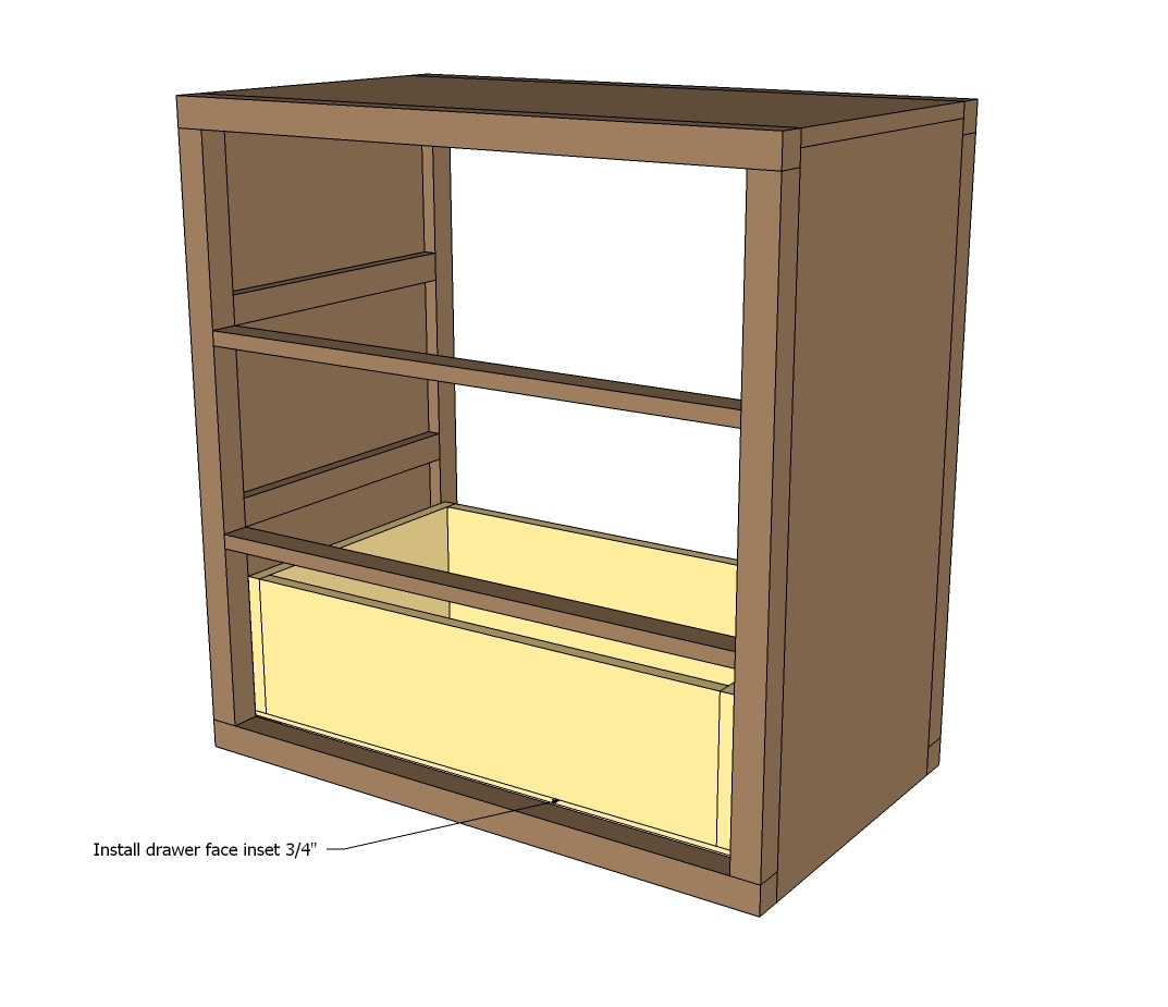 How to make dresser drawers - Now We Build The Drawers The Drawer Size Measurements Given Are For Drawer Slides Requiring A 1 2 Clearance Read The Instructions On Your Drawer Slides