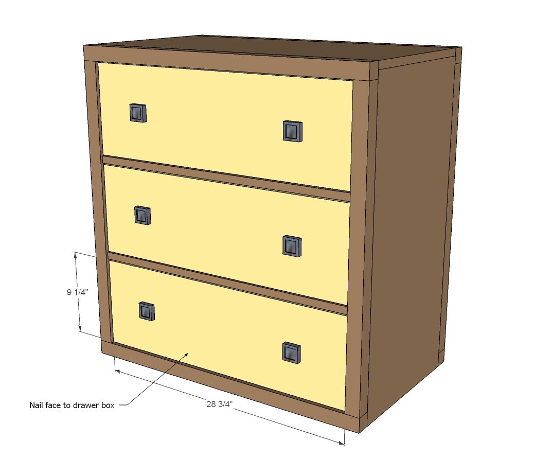 1x2 Cleats And Drawer Members To Bottom Corner Of Drawers. Full resolution  snapshot, nominally Width 1073 Height 925 pixels, snapshot with #C6A605.