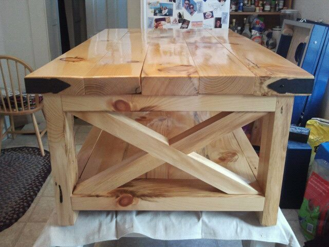 ana white | natural look of rustic x coffee table - diy projects