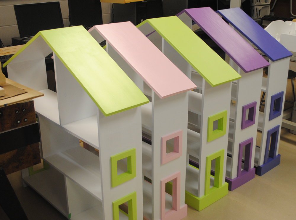 Ana White  Dollhouse Bookshelves - DIY Projects