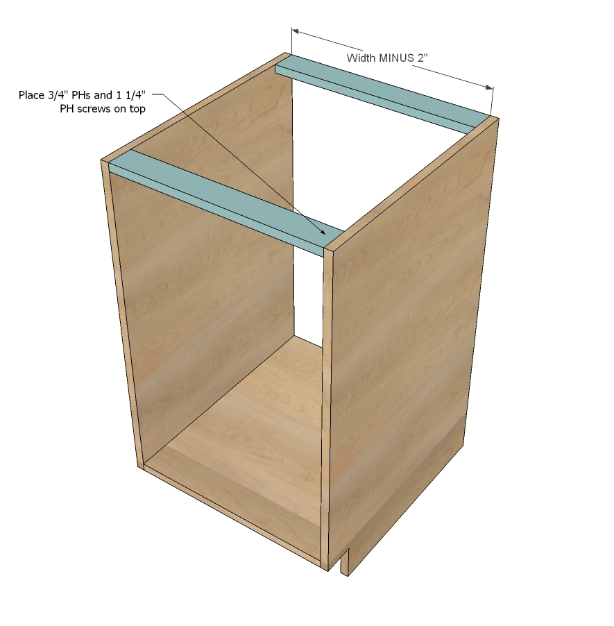 How To Build A Kitchen Cabinet Ana White Face Frame Base Kitchen Cabinet Carcass Diy Projects