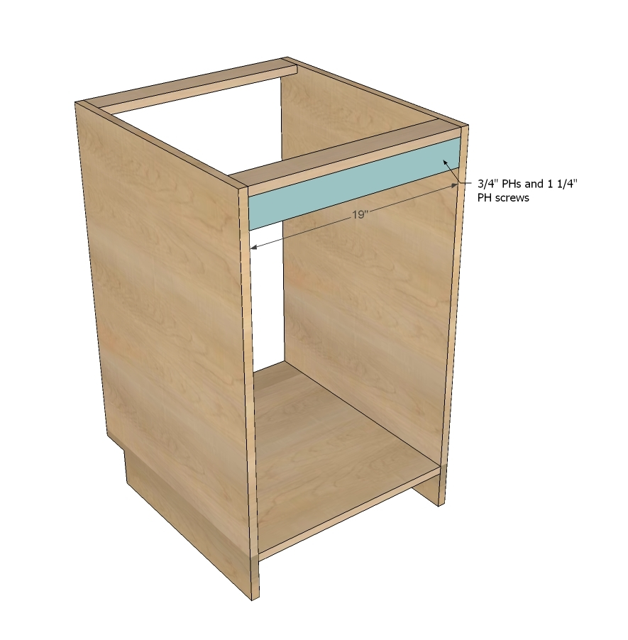 Plywood Wall Cabinet Plan: Face Frame Base Kitchen Cabinet Carcass