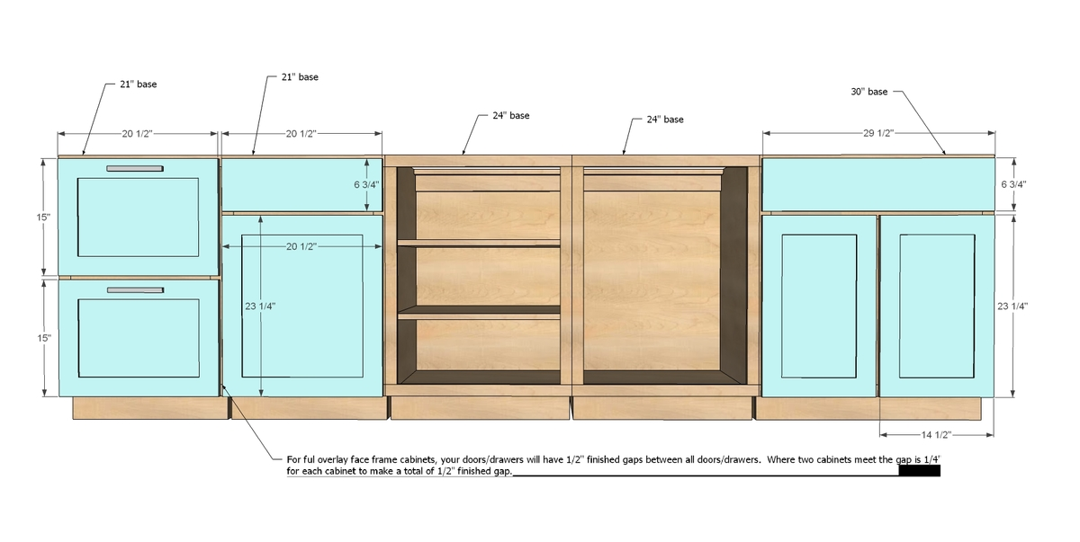 Kitchen cupboard sizes