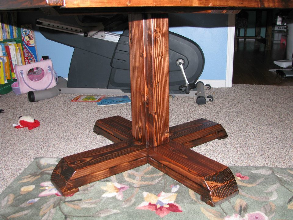 Square Pedestal Table Ana White