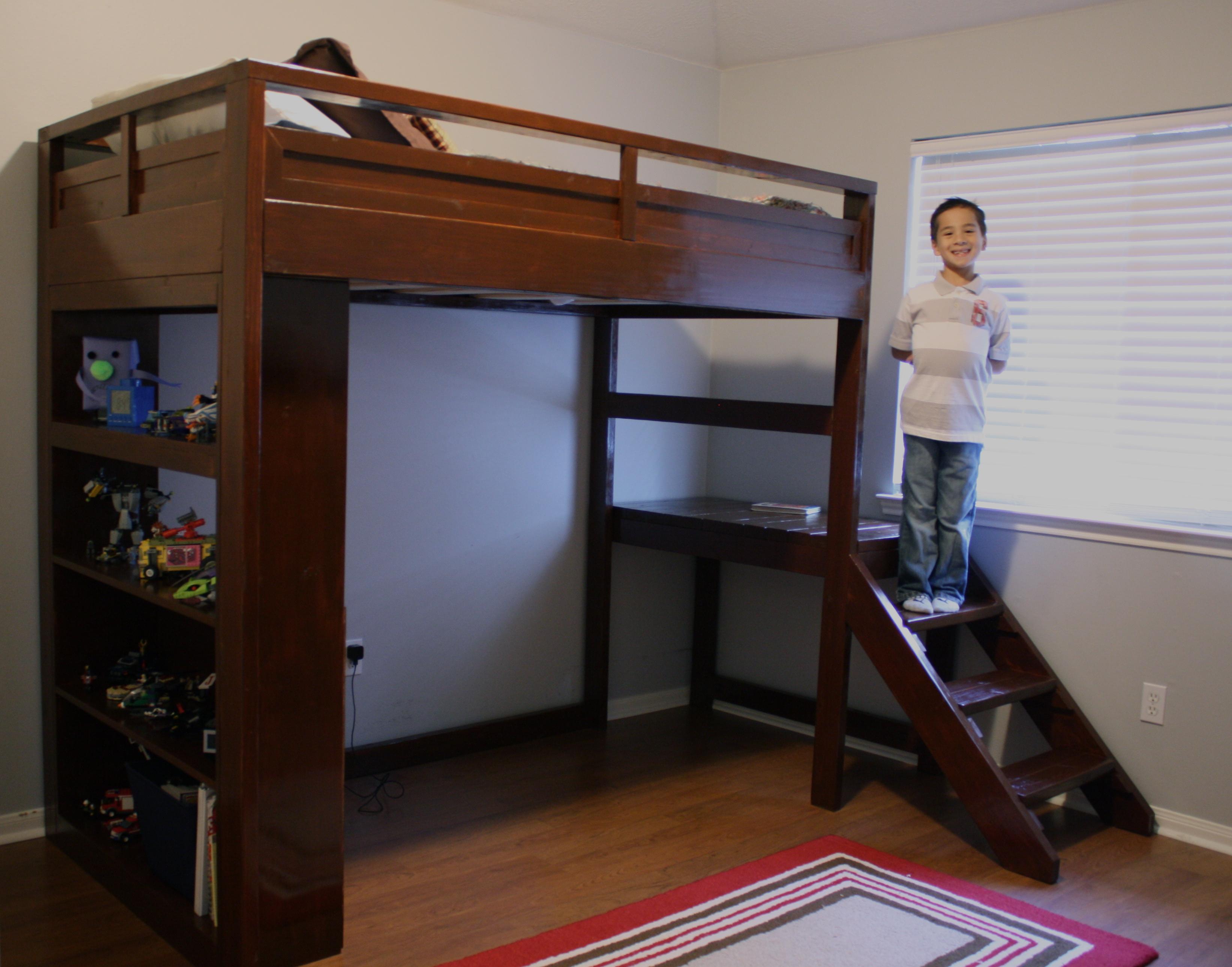Camp Loft Bed W Stairs Ana White